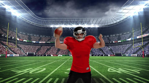 Football player on field Animation