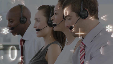 Numbers, symbols and call centre agents Animation