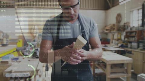 Men building in the workshop 4k Animation