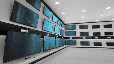 Flat screen television display Animation