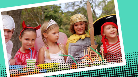 Kids at a costume party Animation