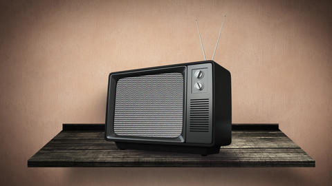 Television with static noise Animation