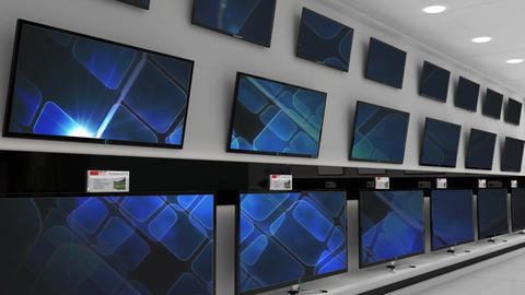 Television on display at a store Animation