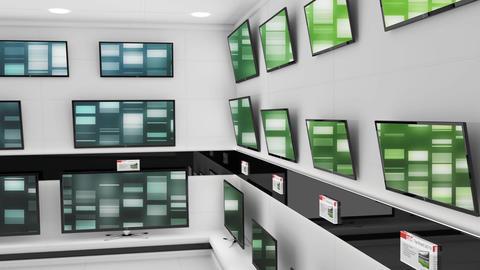 Television electronics store Animation