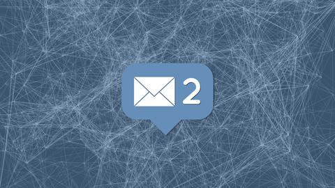 Network of emails Animation