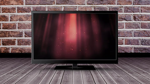 Television with glittery lights Animation
