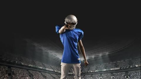 Tough American football athlete Animation