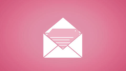 Envelope containing a document Animation
