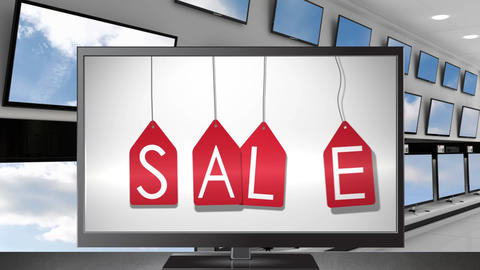 Flat screen television on sale Animation