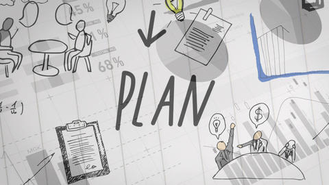 Flow chart of a business plan Animation