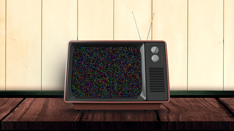 Television on a blank channel Animation