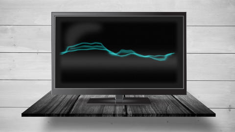 Television with static electricity Animation