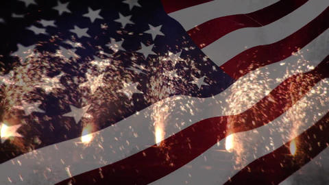 Interdependence day sparklers Animation
