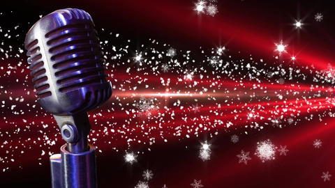 Microphone with shinning lights Animation