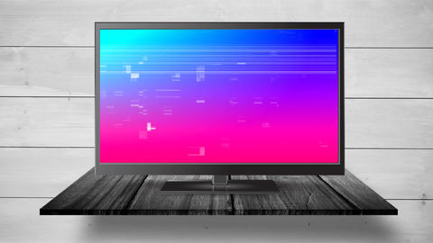 Flat screen TV with pixel noise Animation