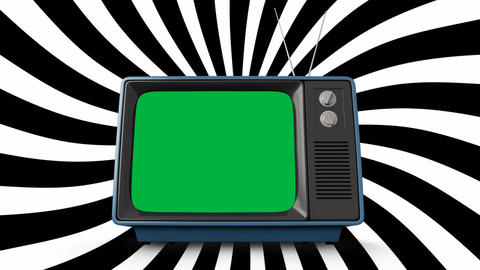Television with a green screen Animation