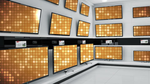 HD televisions displayed at a store Animation