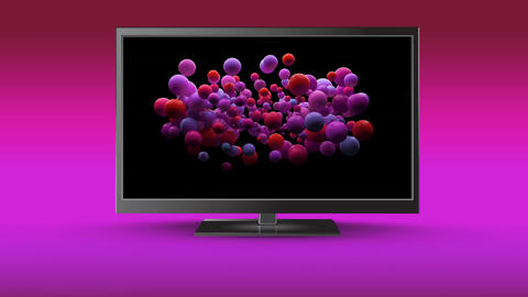 Television on a colourful background Animation