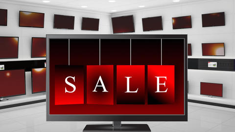 Television store on sale Animation