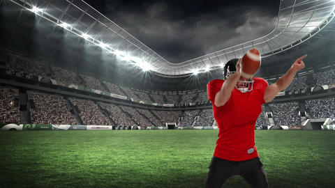 American football player celebrating on the field Animation