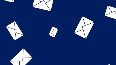 Message envelope icons 4k CG動画