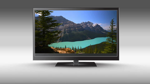 HD flat screen Television Animation