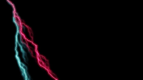 Red and green lightning Animation