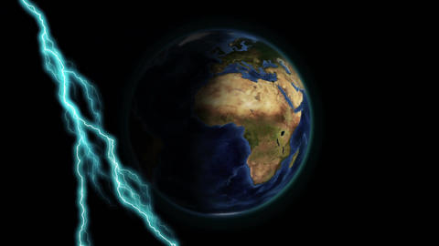 Lightning and the earth Animation