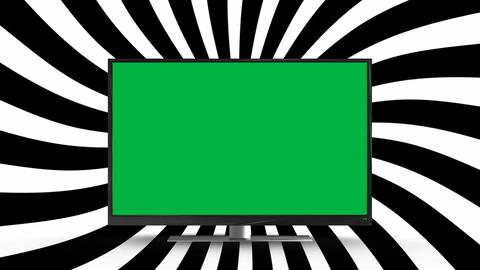 Flat screen television with a green screen Animation