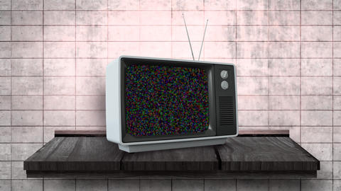 Television with a blank channel Animation
