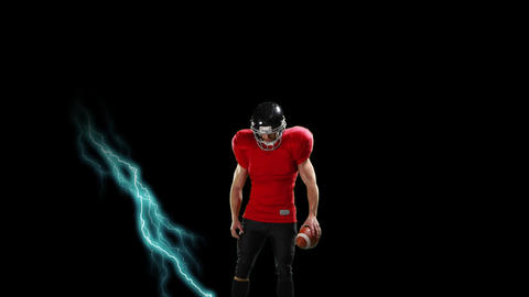Strong american football athlete Animation