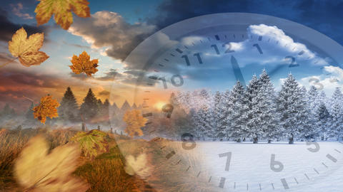 Winter and autumn seasons Animation