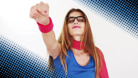Woman wearing a superhero costume Animation