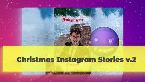 Christmas Instagram Stories v 2 After Effectsテンプレート