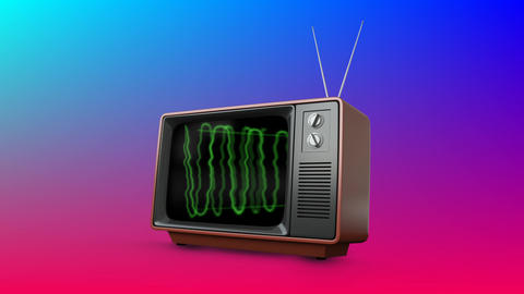 Television with a colourful background Animation