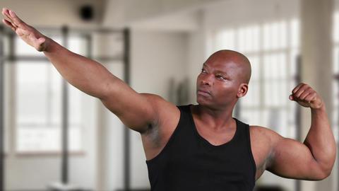 African-american man posing 4k Animation