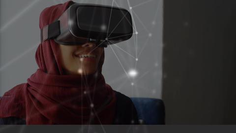 Muslim wearing a virtual reality headset Animation