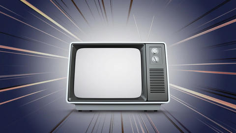 Television with a comic background Animation