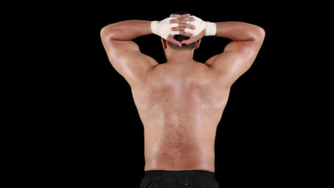 Shirtless man with athletic body Animation