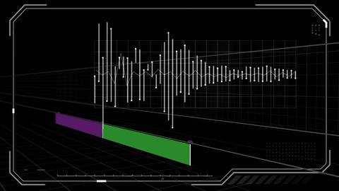 Futuristic interface and radio waves Animation