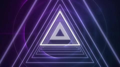 Glowing concentric triangles Animation