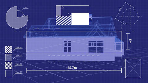 Geometric figures and a house Animation