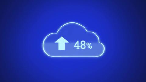 Upload progress cloud Animation