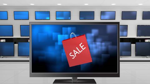 Flat screen TV shopping sale Animation