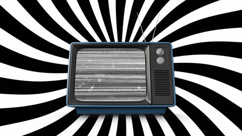 Old television and diagonal lines Animation