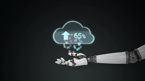Social media and digital cloud Animation