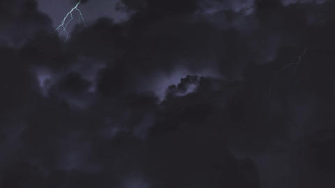 Animation of stormy night sky 4k Animation