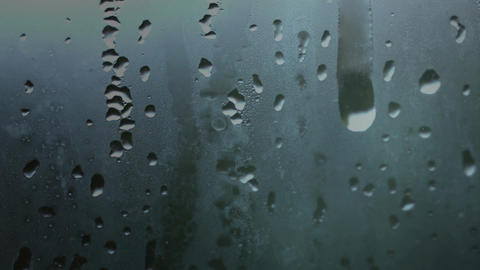 Window pane with dripping water Animation