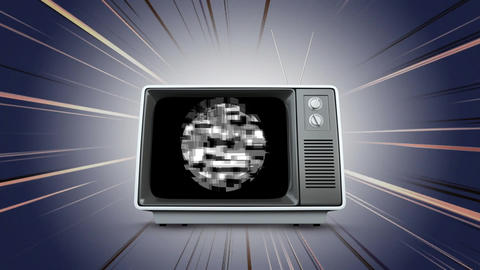 Old television with static Animation