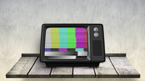 Animation of television with no channels 4k Animation
